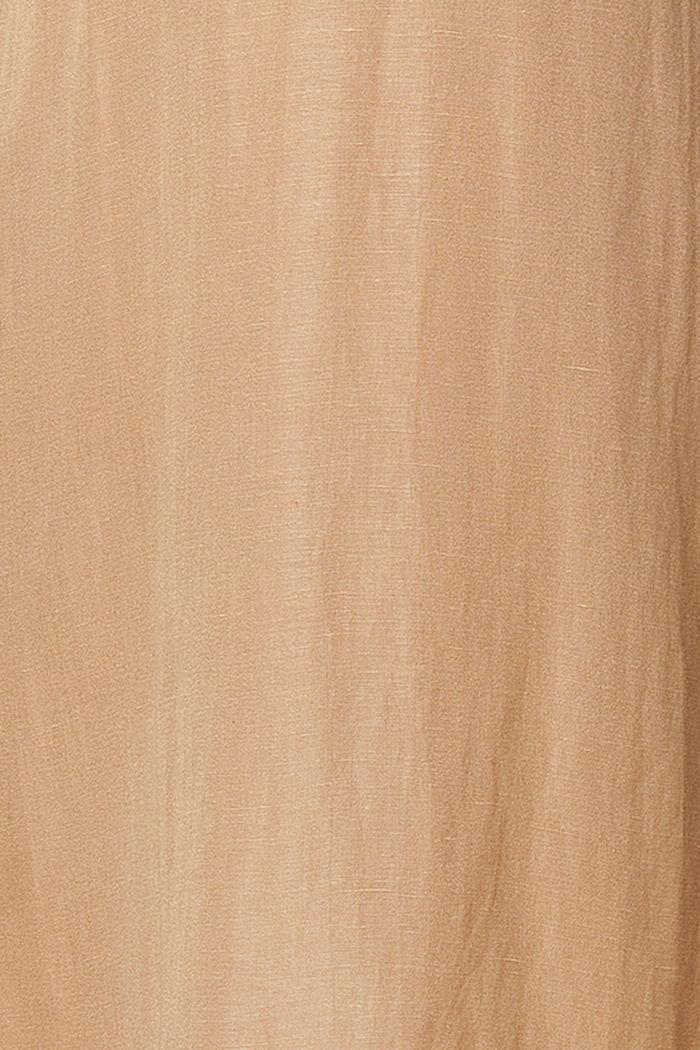 Van een linnenmix: jurk met voedingsfunctie, SAND, detail image number 4