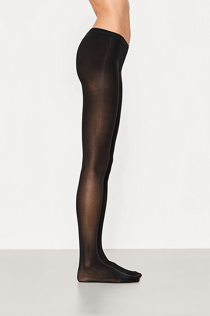 Opaque tights, 50 denier, BLACK, detail image number 0