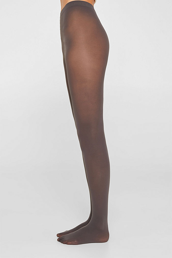 Opaque tights, 50 denier, STONE GREY, detail image number 2
