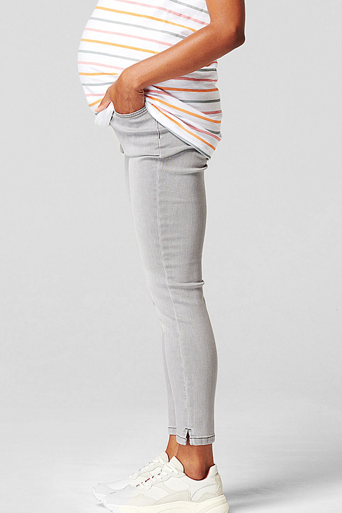 7/8-length jeans with an over-bump waistband, GREY DENIM, detail image number 3
