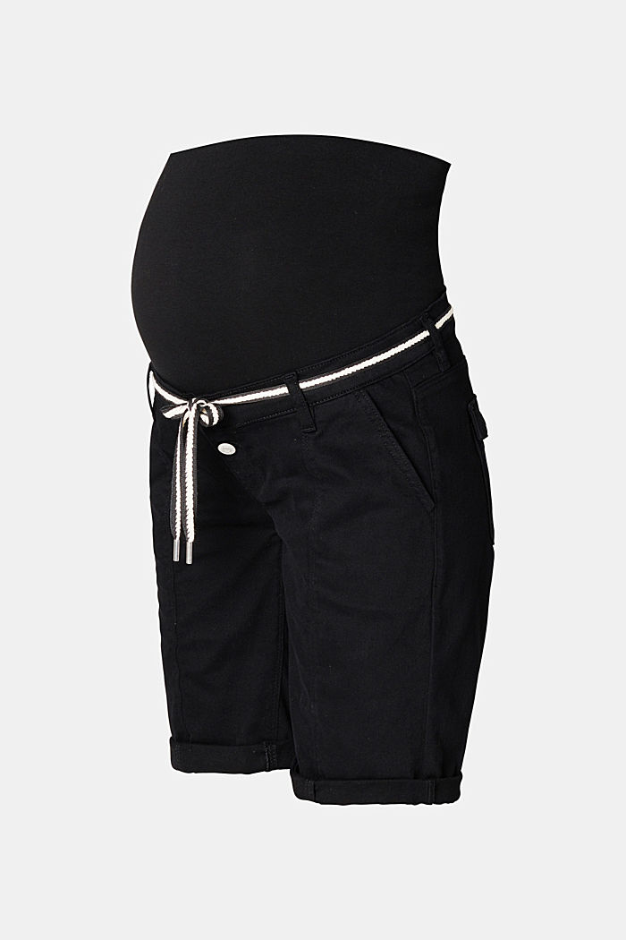 Shorts with an over-bump waistband and a belt, BLACK INK, detail image number 6