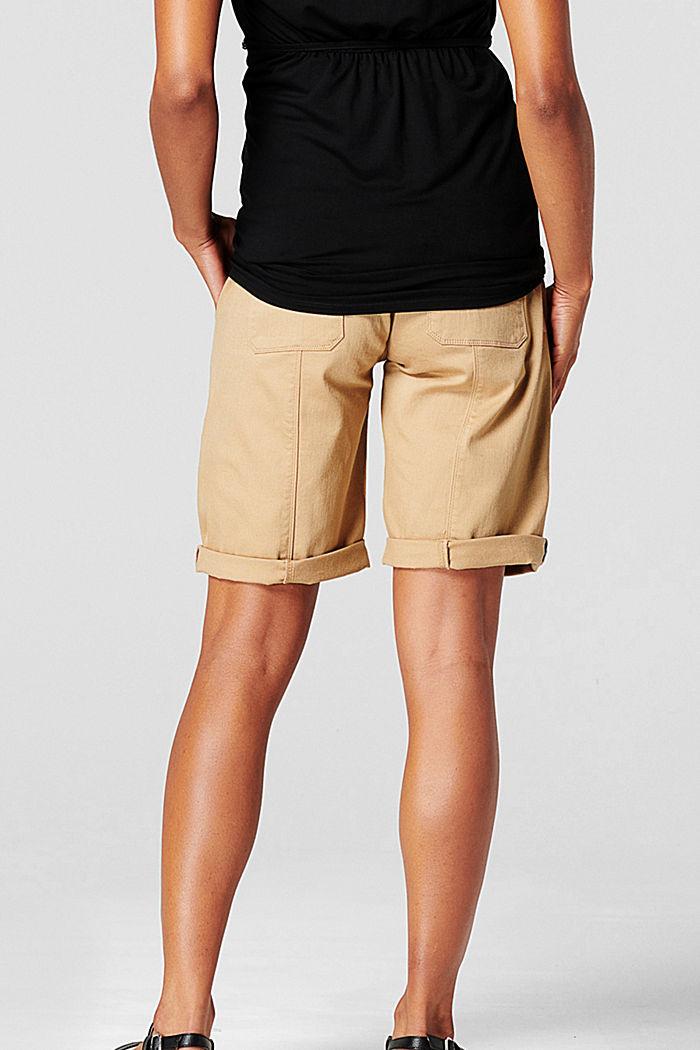 Shorts mit Überbauchbund und Gürtel, SAND, detail image number 1