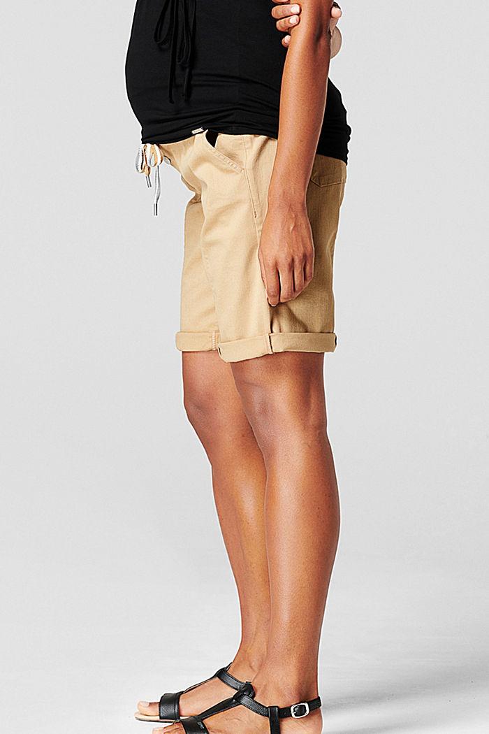 Shorts mit Überbauchbund und Gürtel, SAND, detail image number 3