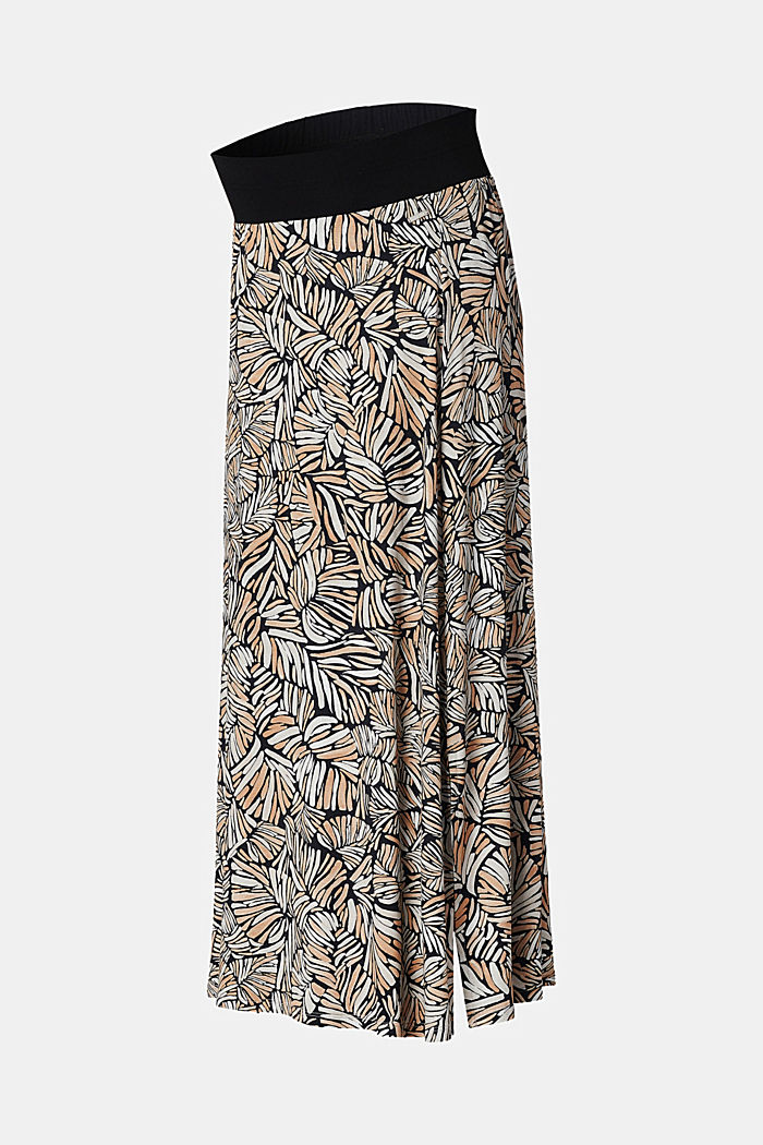 Maxi skirt with under-bump waistband, LENZING™ ECOVERO™, BLACK INK, detail image number 5