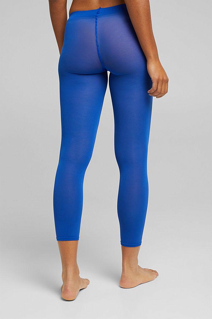 Opaque leggings, blended cotton, COBALT, detail image number 2
