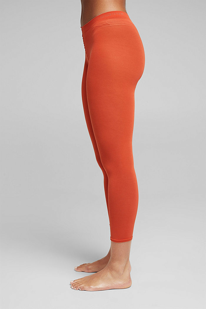Opaque leggings, blended cotton