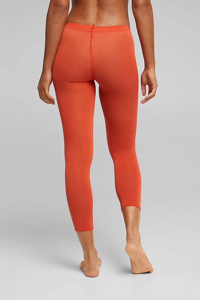 Opaque leggings, blended cotton, TANGERINE, detail image number 2