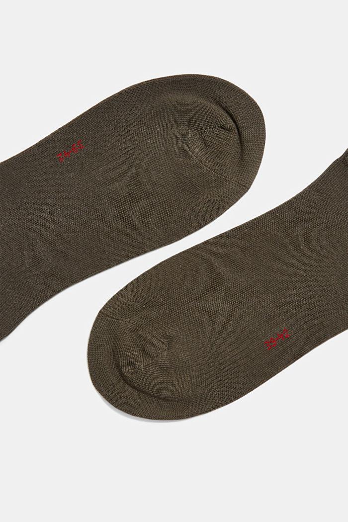 Calzini da sneakers in confezione doppia in misto cotone, THYMIAN, detail image number 1