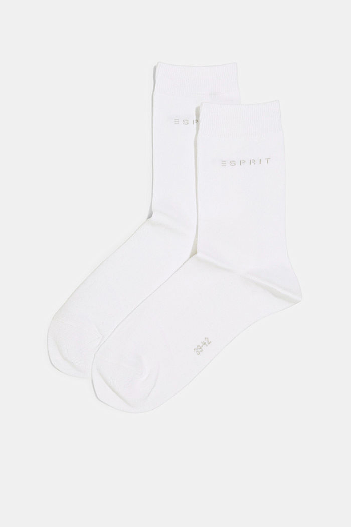 2er-Pack Socken in Melange-Optik, WHITE, detail image number 0