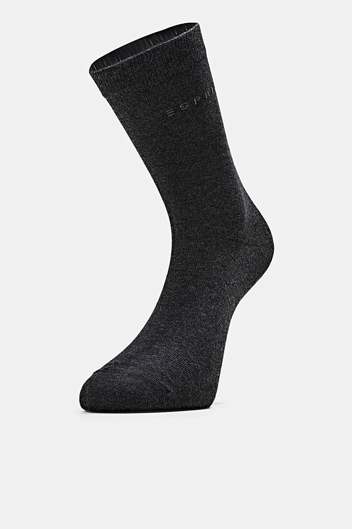 2er-Pack Socken in Melange-Optik, ANTHRACITE MELANGE, detail image number 2