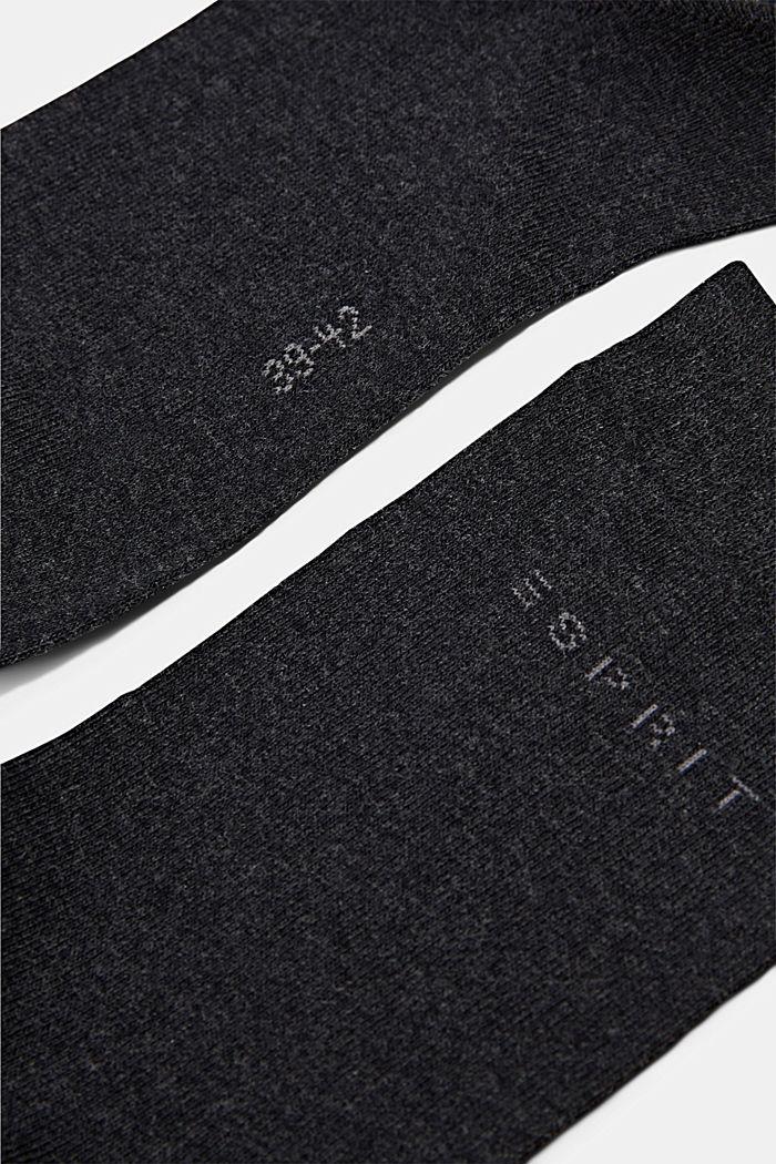 2er-Pack Socken in Melange-Optik, ANTHRACITE MELANGE, detail image number 1