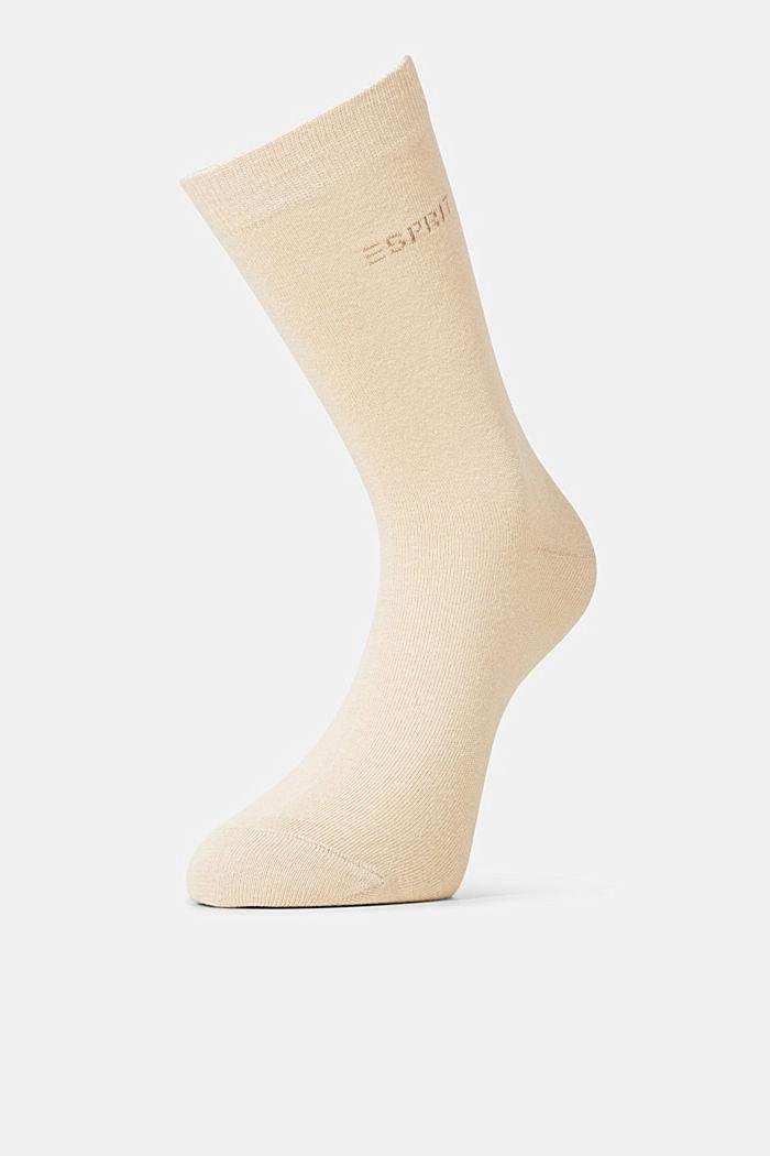 2er-Pack Socken in Melange-Optik, CREAM, detail image number 1