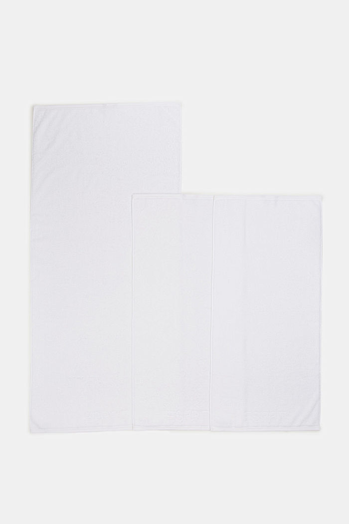 Containing TENCEL™: terry cloth towel set, WHITE, detail image number 3