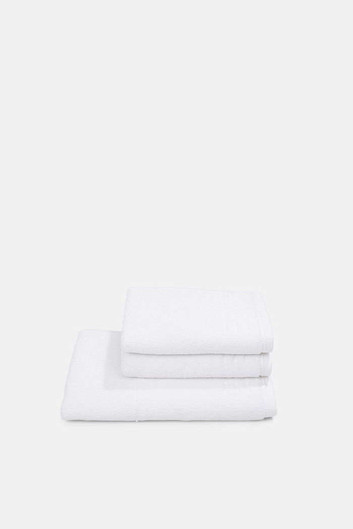 Containing TENCEL™: terry cloth towel set, WHITE, detail image number 2