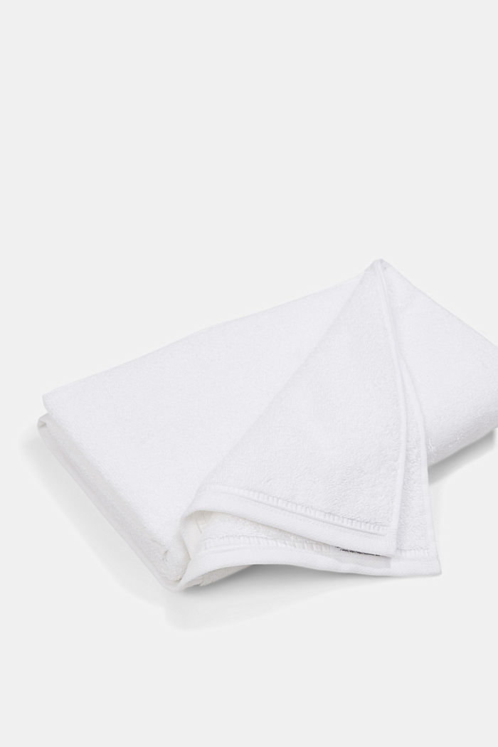 Containing TENCEL™: terry cloth towel set, WHITE, detail image number 1