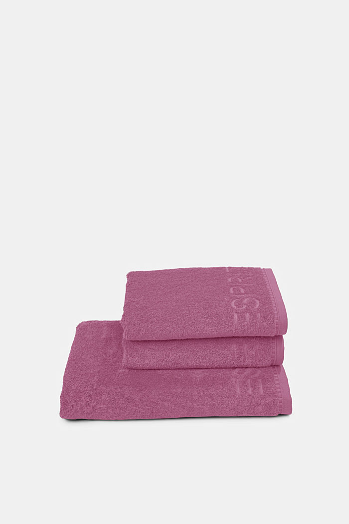 Containing TENCEL™: terry cloth towel set, BLACKBERRY, detail image number 2