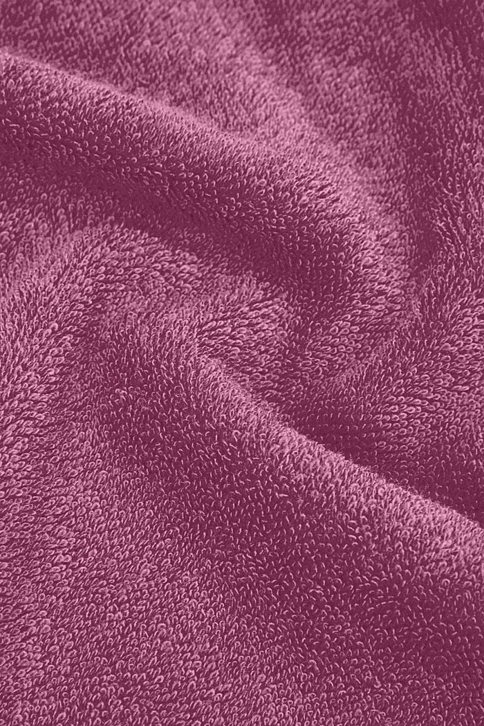 Containing TENCEL™: terry cloth towel set, BLACKBERRY, detail image number 1