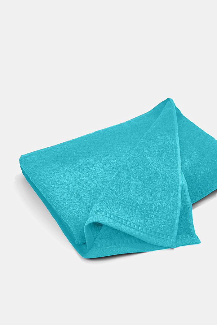 Containing TENCEL™: terry cloth towel set, TURQUOISE, detail image number 4