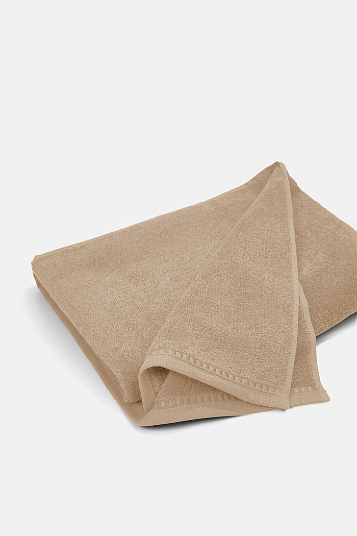 Containing TENCEL™: terry cloth towel set, MOCCA, detail image number 4