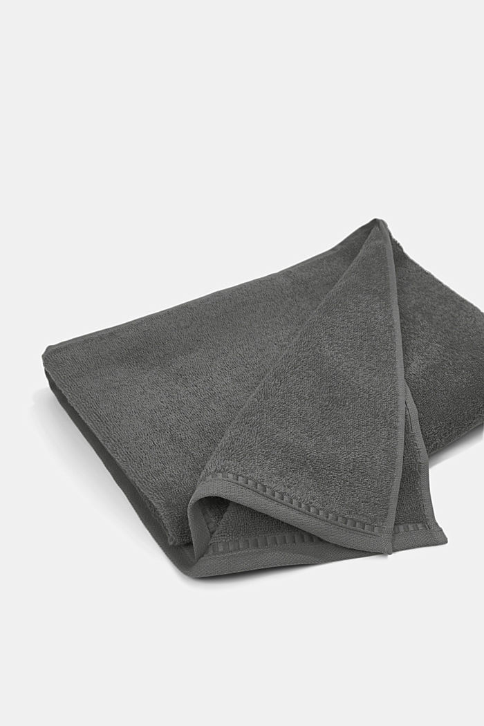 Containing TENCEL™: terry cloth towel set, ANTHRACITE, detail image number 4