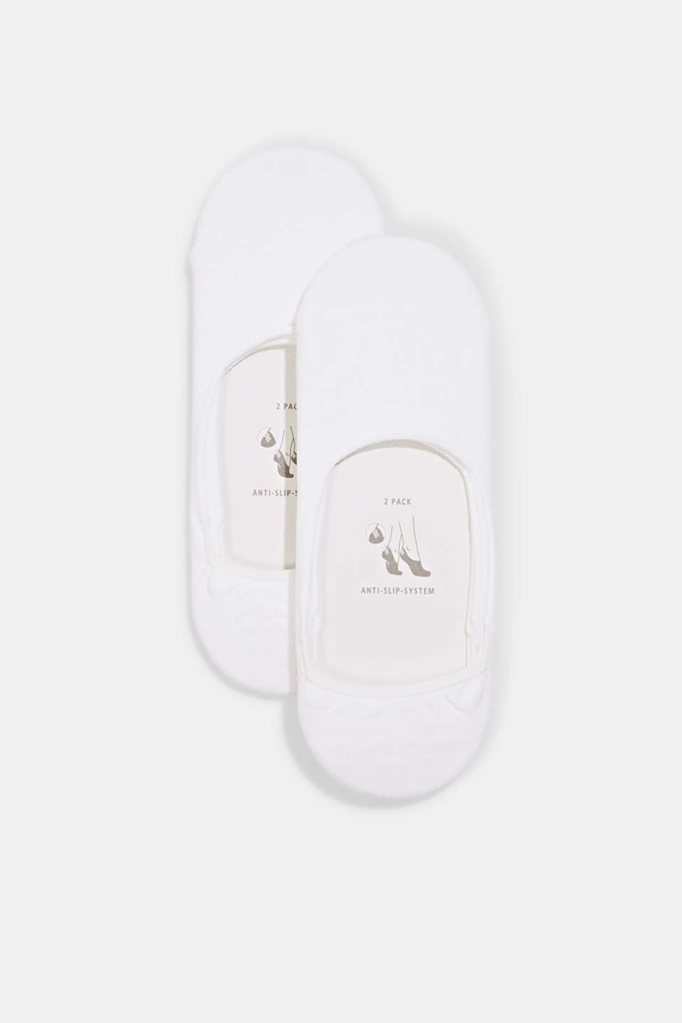 Esprit - Double pack of trainer liners with an anti-slip finish