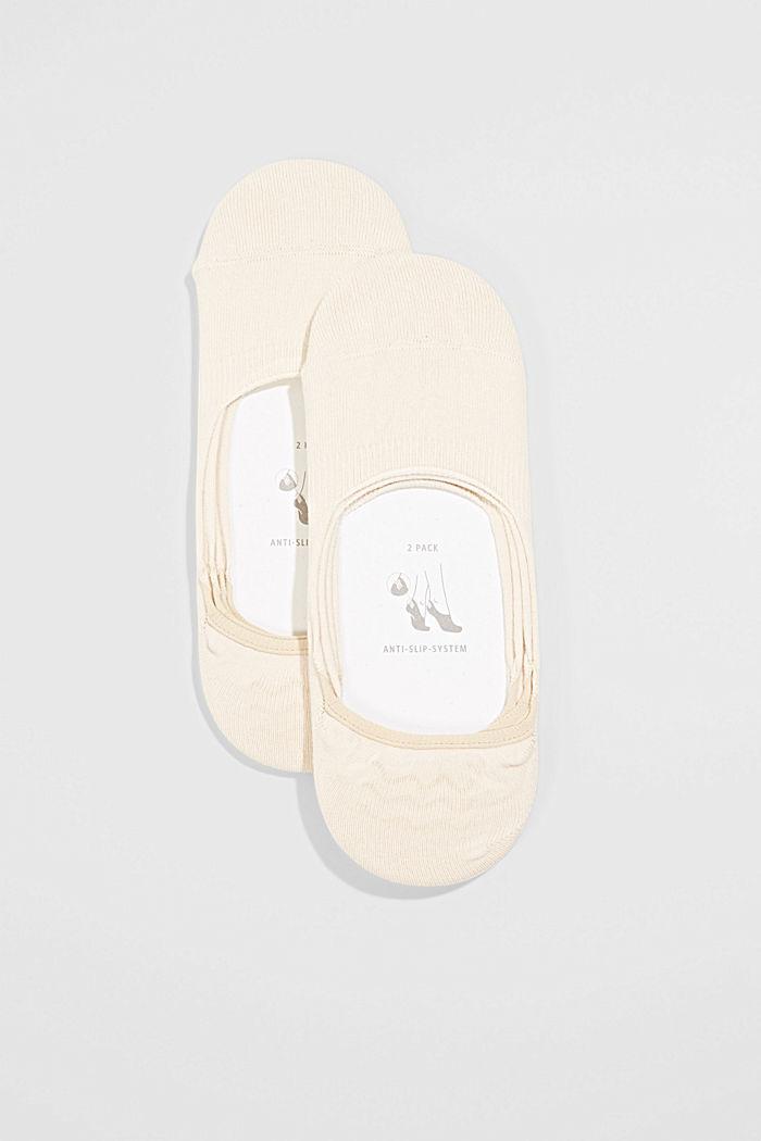 2er-Pack Füßlinge mit Anti-Slip-System, CREAM, detail image number 0
