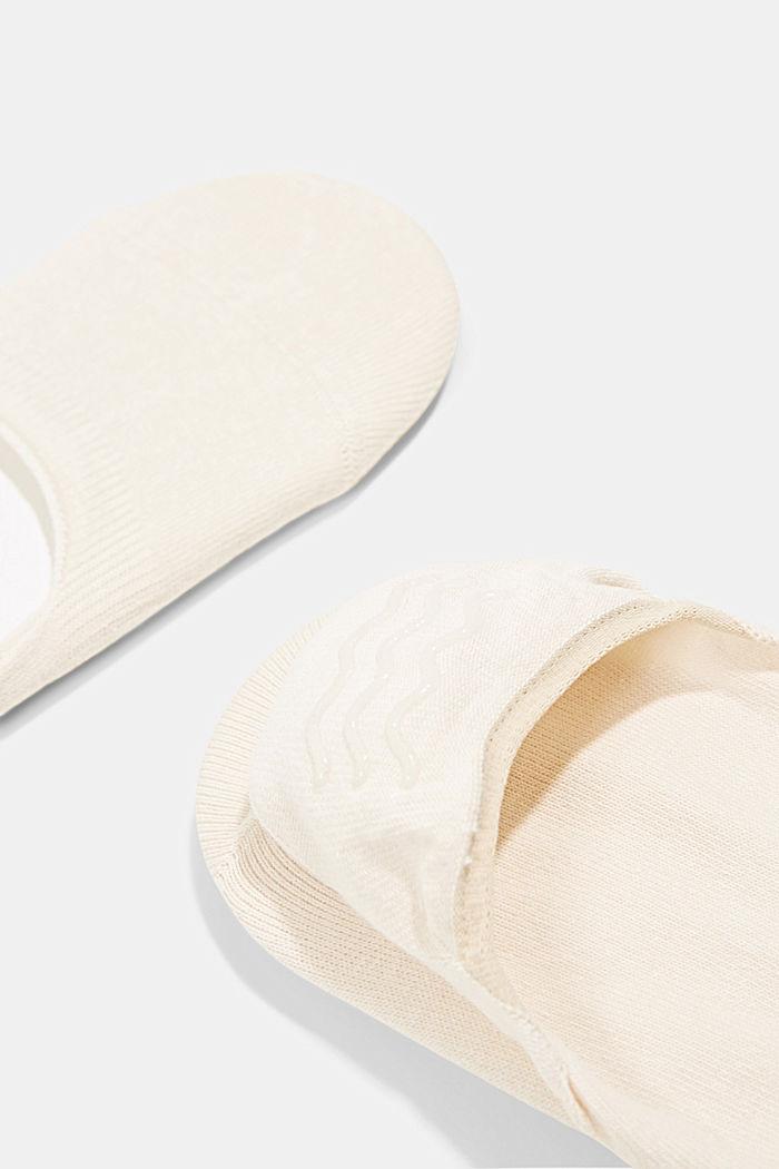2er-Pack Füßlinge mit Anti-Slip-System, CREAM, detail image number 2
