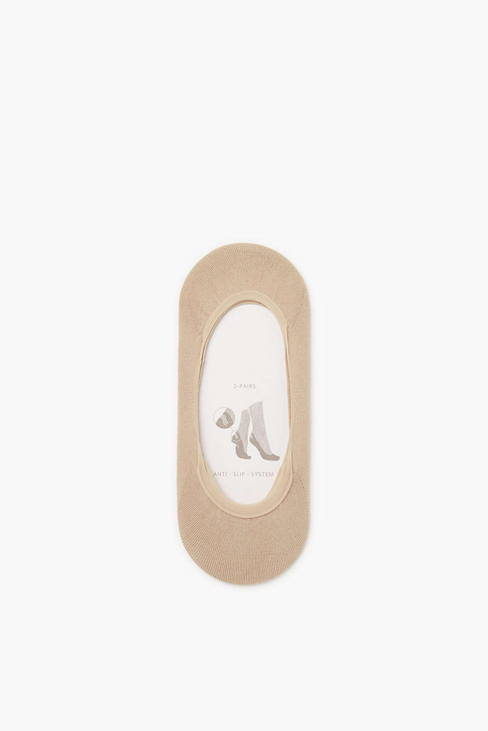Perfect for trainers and ballerinas: cotton blend trainer liners