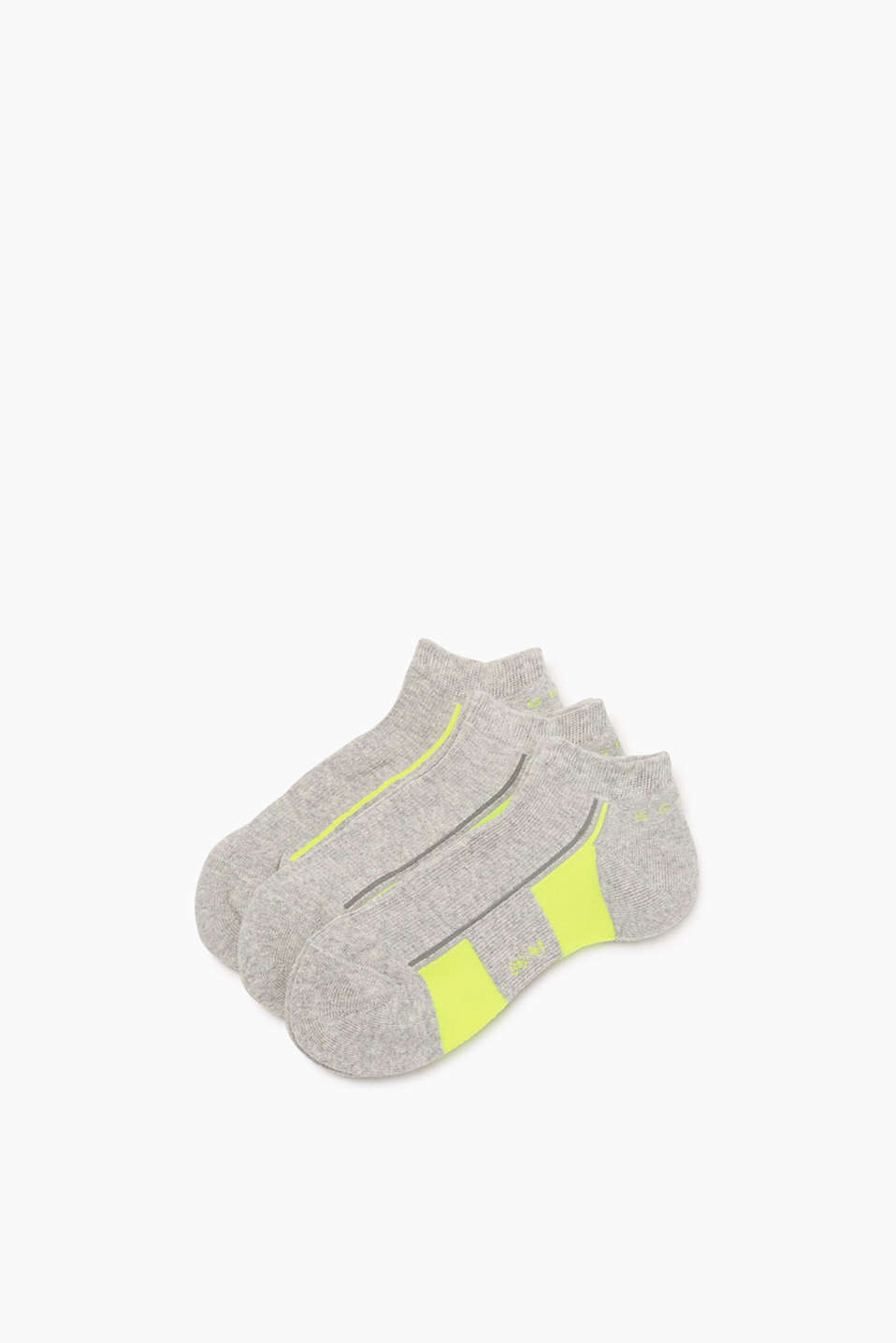 Esprit - Three-pack of trainer socks with neon
