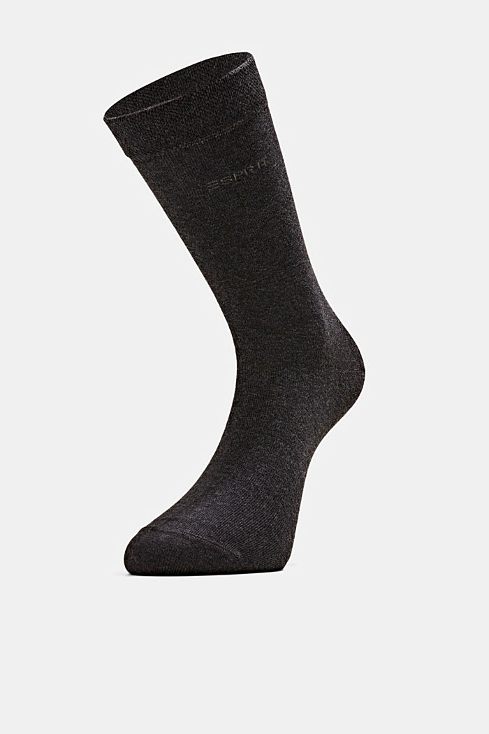 2er-Pack Socken mit Softbund, ANTHRACITE MELANGE, detail image number 2