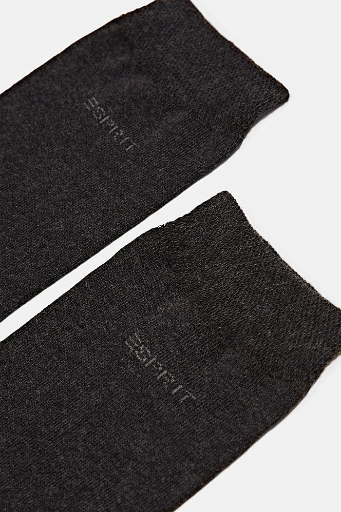 2er-Pack Socken mit Softbund, ANTHRACITE MELANGE, detail image number 1