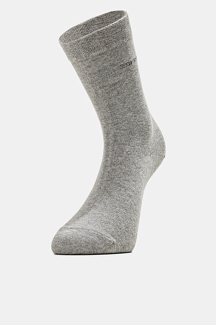 2er-Pack Socken mit Softbund, LIGHT GREY MELANGE, detail image number 0