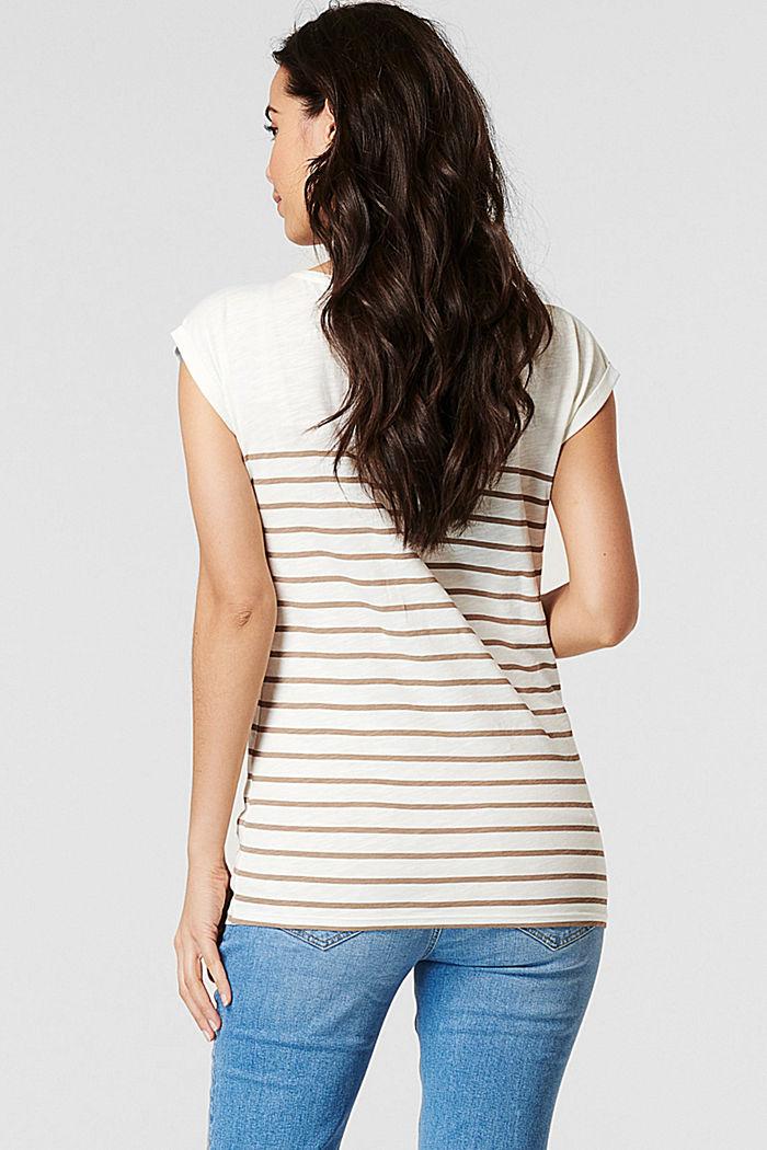 Gestreiftes T-Shirt aus 100% Bio-Baumwolle, OFF WHITE, detail image number 1