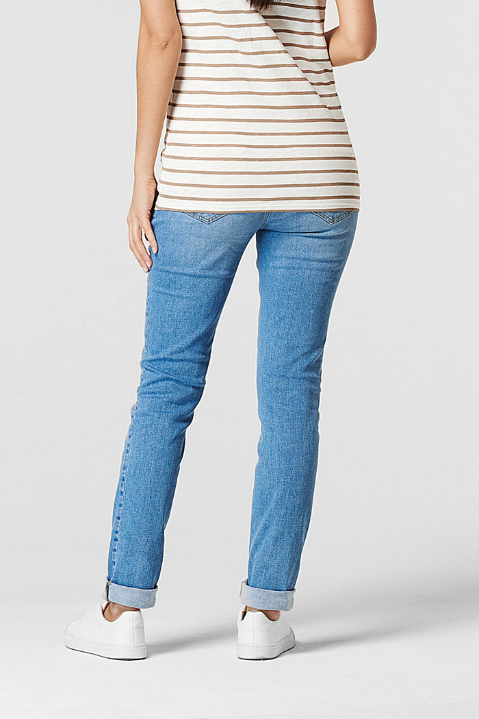 Stretch jeans with an over-bump waistband, MEDIUM WASHED, detail image number 2