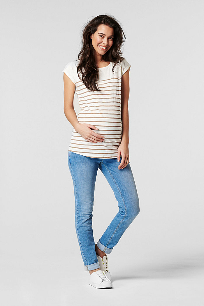 Stretch jeans with an over-bump waistband, MEDIUM WASHED, detail image number 1