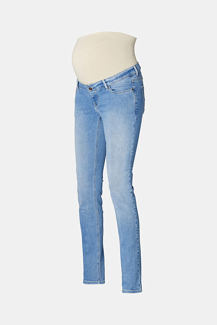 Stretch jeans with an over-bump waistband, MEDIUM WASHED, detail image number 5