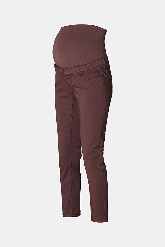 7/8-length stretch trousers with an over-bump waistband