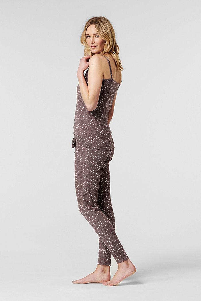 Pyjamatop met voedingsfunctie, biologisch katoen, TAUPE, detail image number 2
