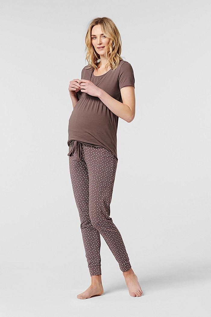 Jersey nursing pyjama top, organic cotton