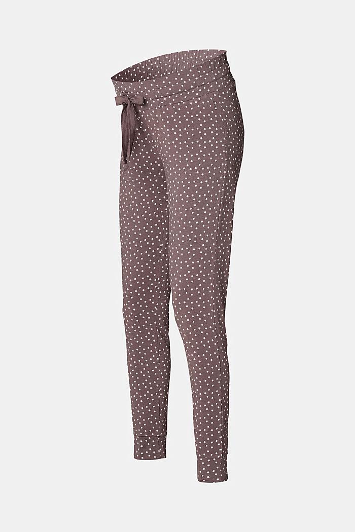 Pyjamahose mit Unterbauchbund, Organic Cotton, TAUPE, detail image number 3