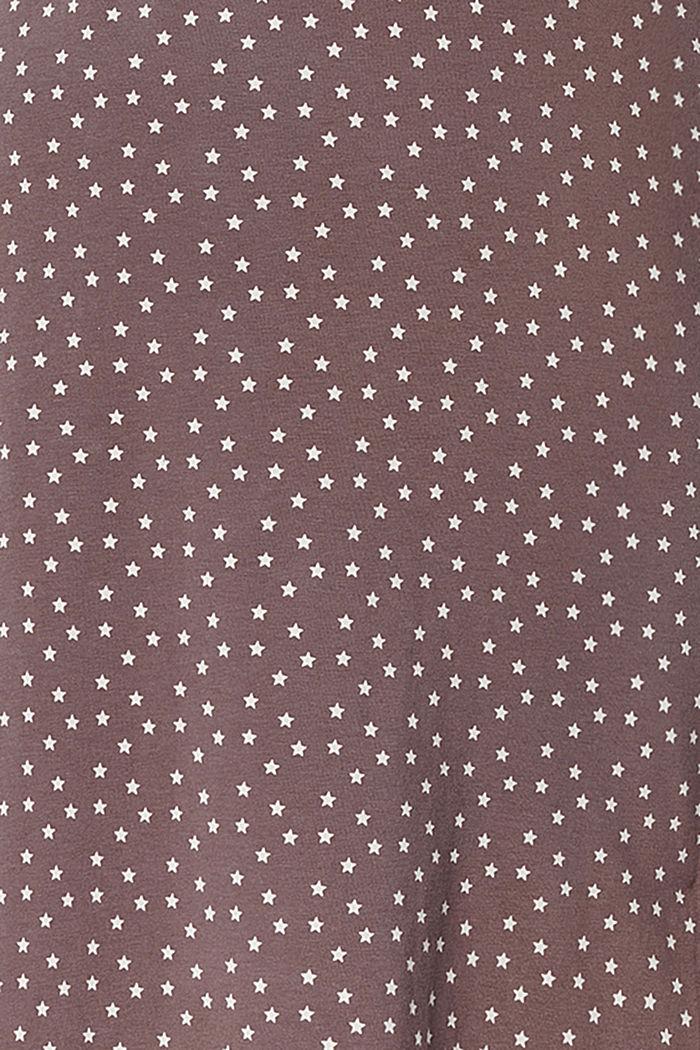 Nachthemd met voedingsfunctie van organic cotton, TAUPE, detail image number 4