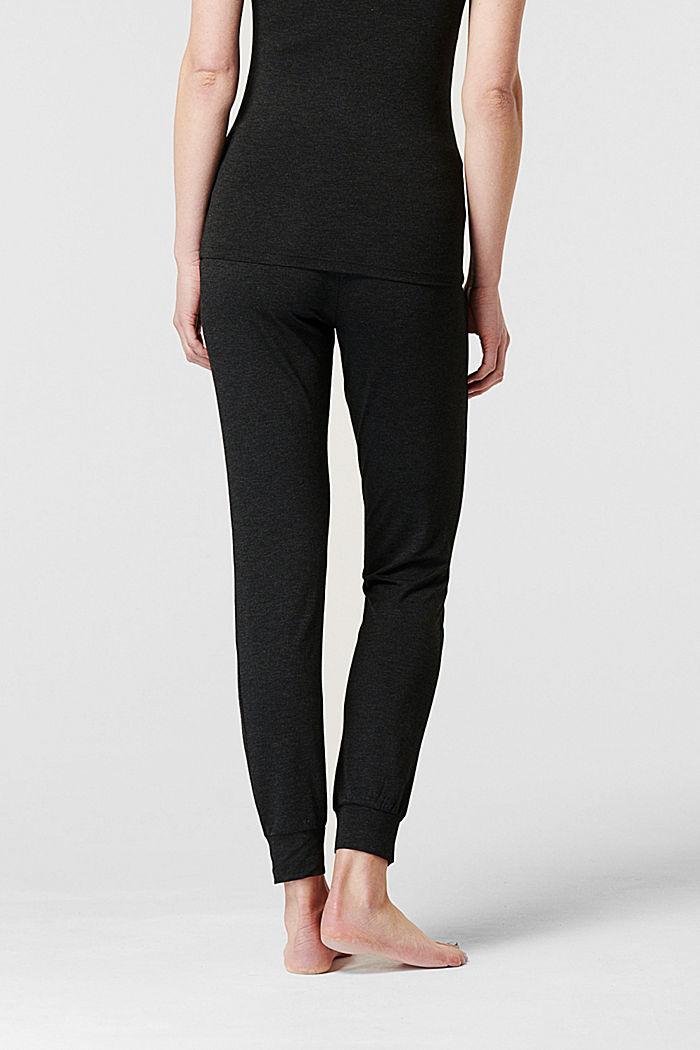 Loungewear Hose mit Überbauchbund, ANTHRACITE MELANGE, detail image number 1
