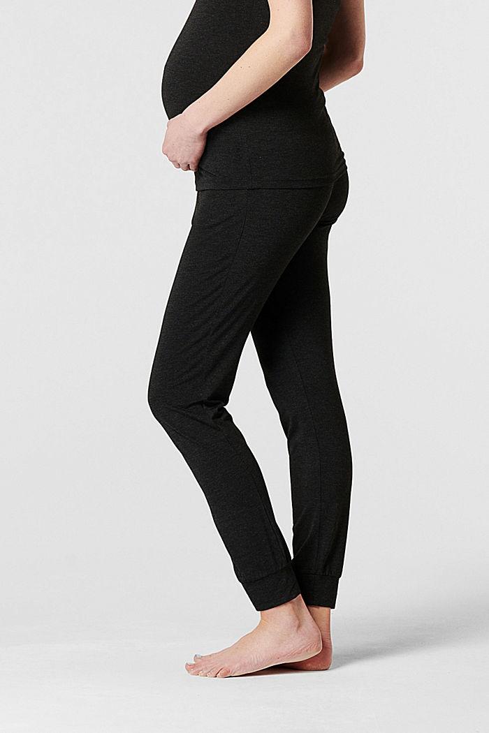 Loungewear Hose mit Überbauchbund, ANTHRACITE MELANGE, detail image number 3