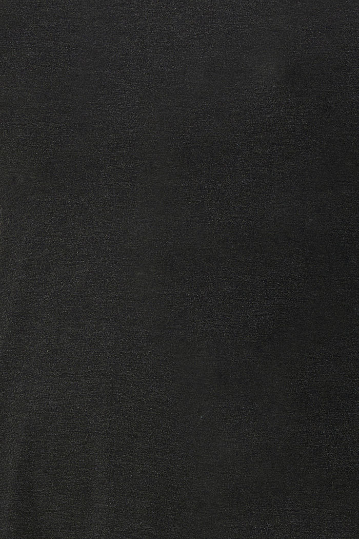Long sleeve top with open sides, LENZING™ ECOVERO™, ANTHRACITE MELANGE, detail image number 4