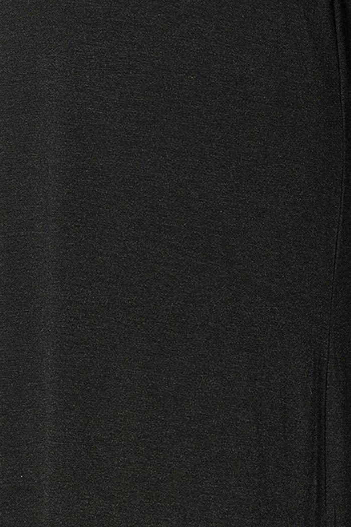Loungewear-jerseykjole af LENZING™ ECOVERO™, ANTHRACITE MELANGE, detail image number 5