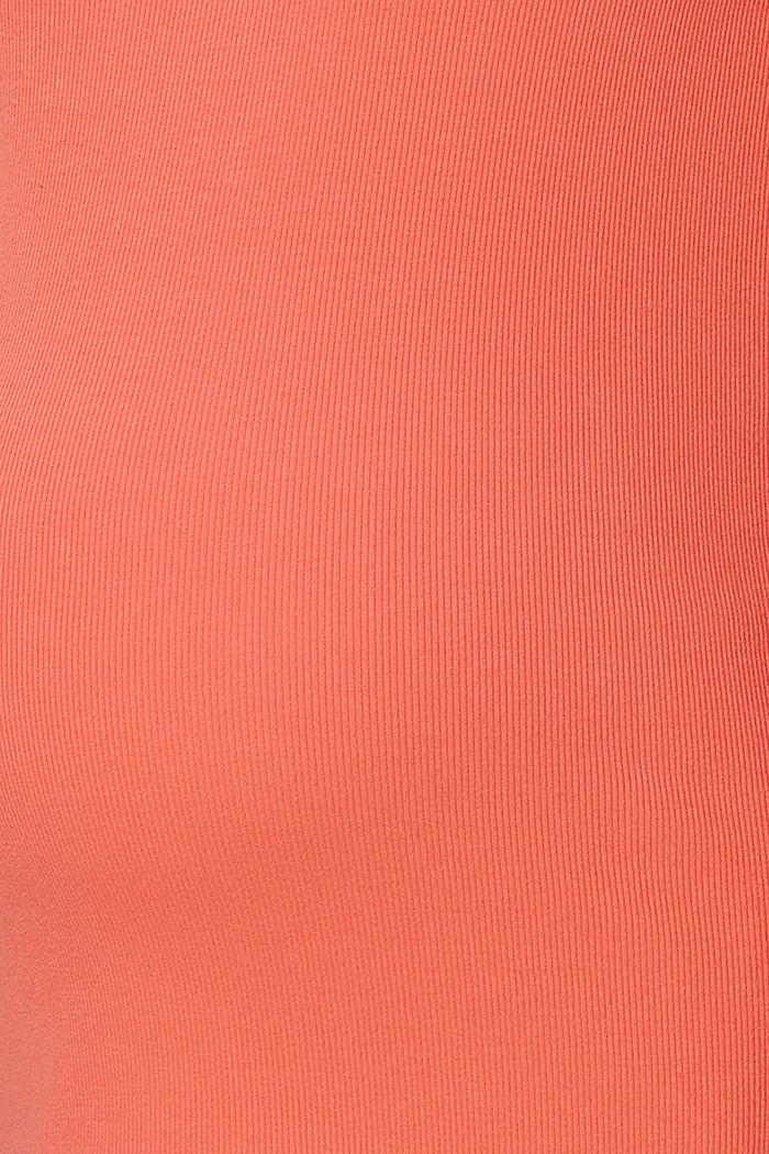 Geribde longsleeve van biologisch katoen met stretch, SALMON, detail image number 2