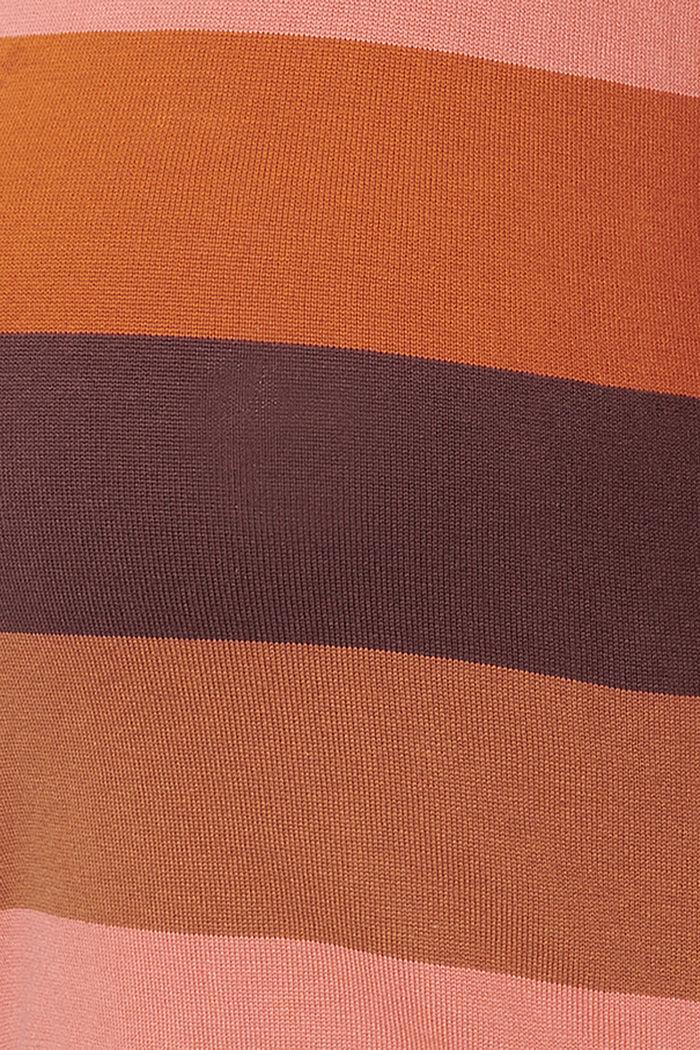 Blockrandig tröja i 100% ekobomull, COFFEE, detail image number 2