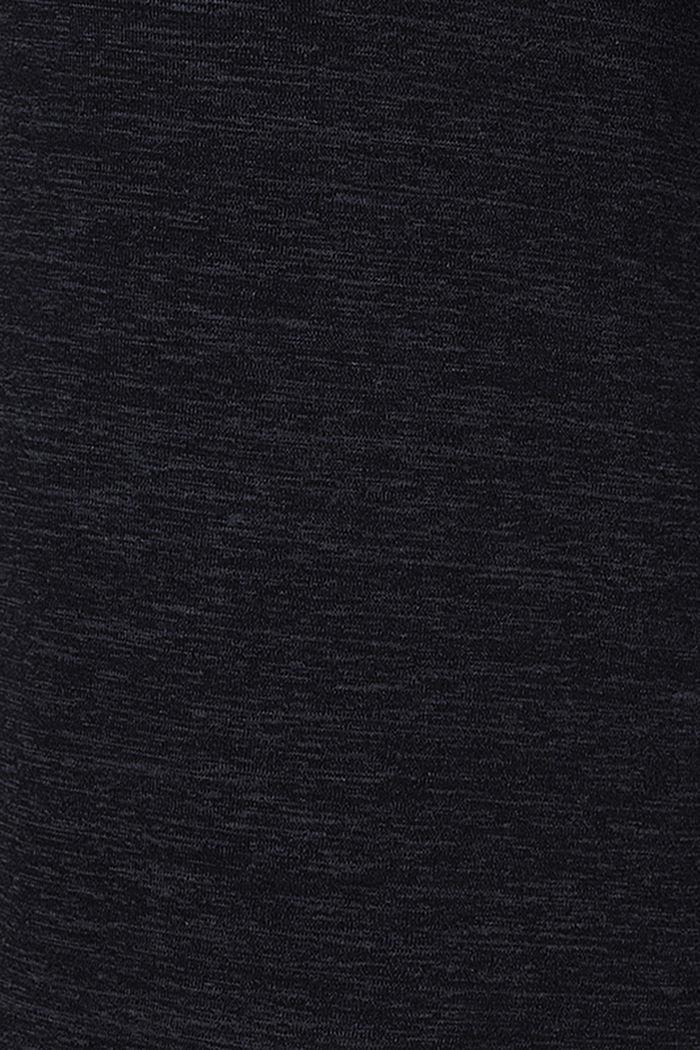 Vestido de lactancia en jersey jaspeado, BLACK, detail image number 4