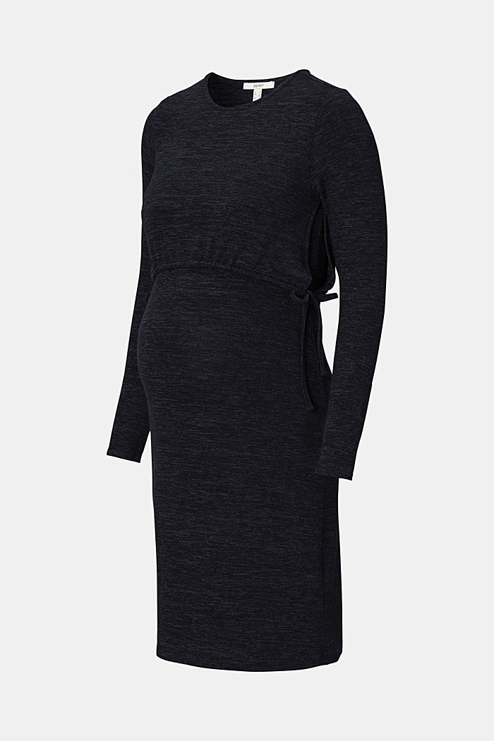 Gemêleerde jersey jurk met voedingsfunctie
