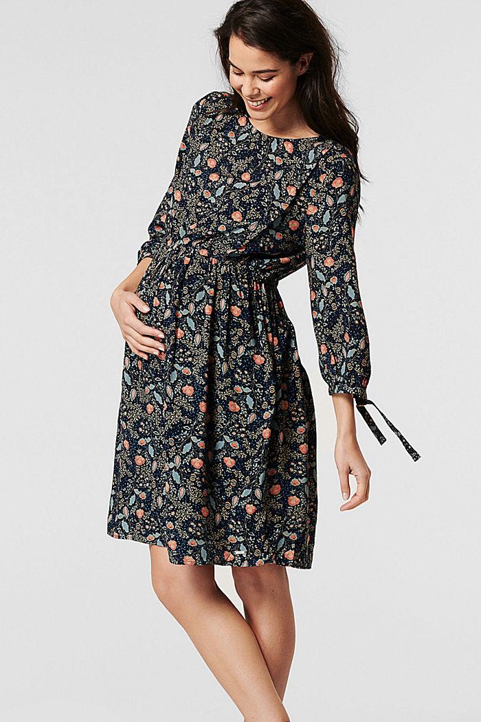 Flower-Kleid mit Stillfunktion, LENZING™ ECOVERO™, NIGHT SKY BLUE, detail image number 5